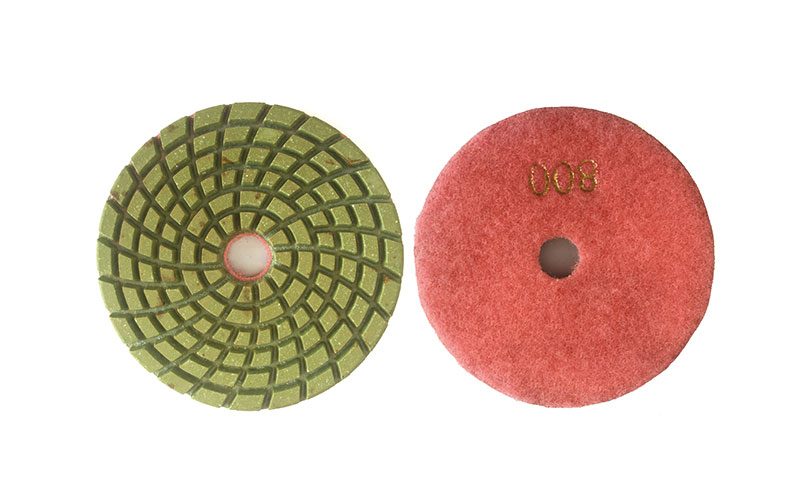 4 inch resin water-grinding pad 8mm