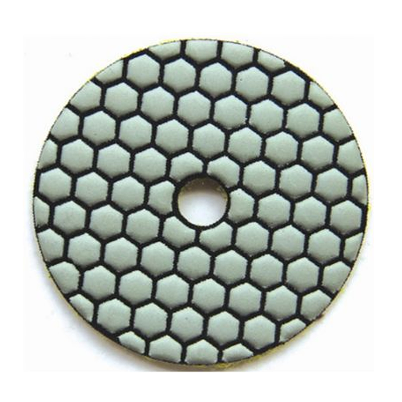 Hexagon dry polishing pad